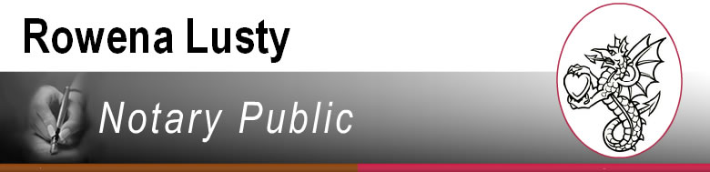 Rowena Lusty Notary Public Logo